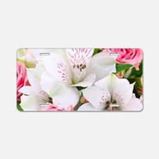 Lilies And Roses Bouchet Aluminum License Plate