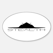 Black Stealth Aircraft Decal