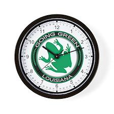 Going Green Louisiana (Frog) Wall Clock