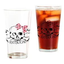 Antisocial Girl Drinking Glass