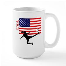 American Woman Soccer Player Mug