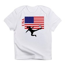 American Woman Soccer Player Infant T-Shirt