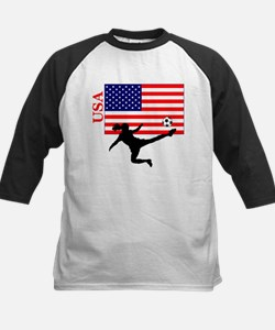 American Woman Soccer Player Tee