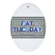 Fat Tuesday Oval Ornament