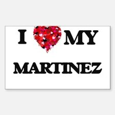 I Love MY Martinez Decal