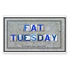 Fat Tuesday Rectangle Decal