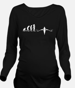 Rowing Long Sleeve Maternity T-Shirt