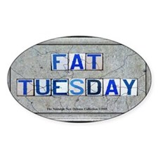 Fat Tuesday Oval Decal