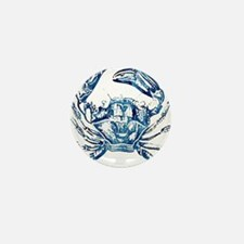 coastal nautical beach crab Mini Button
