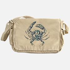 coastal nautical beach crab Messenger Bag