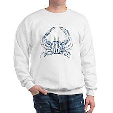 coastal nautical beach crab Sweatshirt