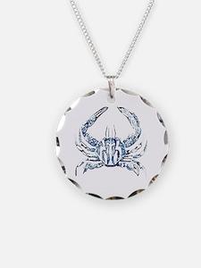 coastal nautical beach crab Necklace