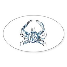 coastal nautical beach crab Decal