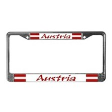 """Austria Flag"" License Plate Frame"
