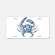 coastal nautical beach crab Aluminum License Plate