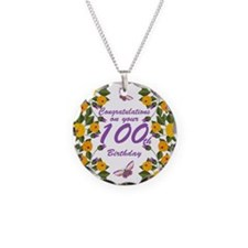 100th Birthday Floral Necklace