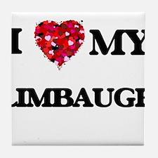I Love MY Limbaugh Tile Coaster