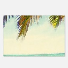 tropical sky summer beach Postcards (Package of 8)