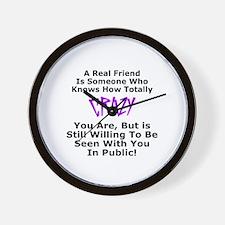 A REAL FRIEND Wall Clock
