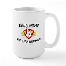 Large Mug: L H Superpower Plain Mugs