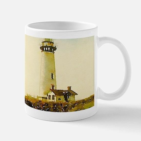 vintage coastal lighthouse Mugs
