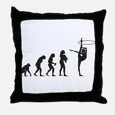 Rhythmic Gymnastic Throw Pillow