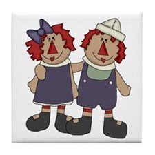 Annie and Andy Tile Coaster