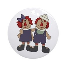 Annie and Andy Ornament (Round)
