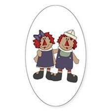 Annie and Andy Oval Decal