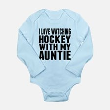 I Love Watching Hockey With My Auntie Body Suit