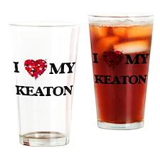 I Love MY Keaton Drinking Glass