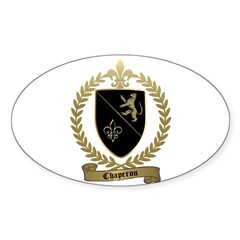 CHAPERON Family Crest Oval Decal