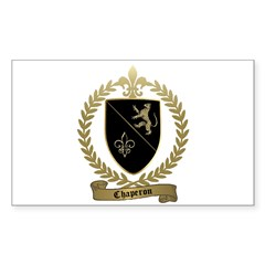 CHAPERON Family Crest Rectangle Decal