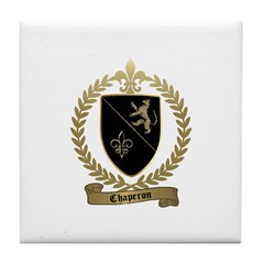 CHAPERON Family Crest Tile Coaster