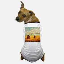 watercolor hay bale farm Dog T-Shirt