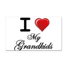 I Love My Grandkids Rectangle Car Magnet