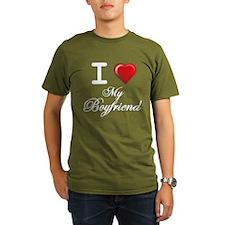 i love my boyfriend white .png T-Shirt