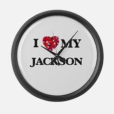 I Love MY Jackson Large Wall Clock