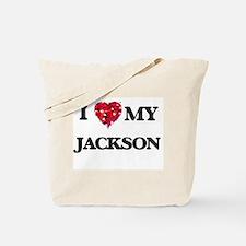I Love MY Jackson Tote Bag