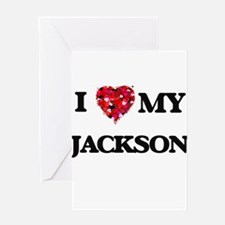 I Love MY Jackson Greeting Cards