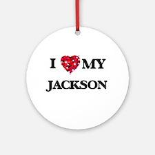 I Love MY Jackson Ornament (Round)