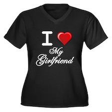 i love my girlfriend wht.png Plus Size T-Shirt