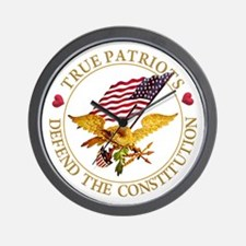 True Patriots Defend the Constitution Wall Clock