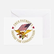 True Patriots Defend the Constitutio Greeting Card