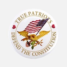"True Patriots Defend the Co 3.5"" Button (100 pack)"