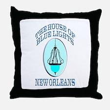 House of Blue Lights Throw Pillow