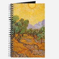 Van Gogh Olive Trees Yellow Sky Sun Journal