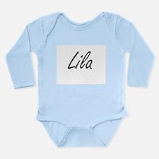 Lila artistic Name Design Body Suit
