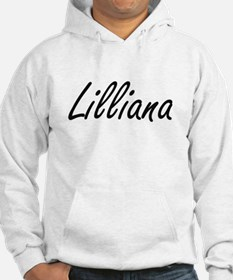 Lilliana artistic Name Design Hoodie Sweatshirt