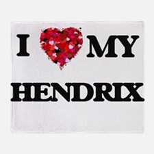 I Love MY Hendrix Throw Blanket